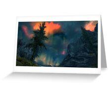 Aurora Skyrim Night Greeting Card