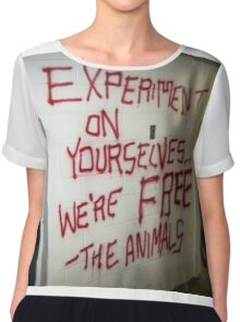 Stop Animal Testing!! Chiffon Top