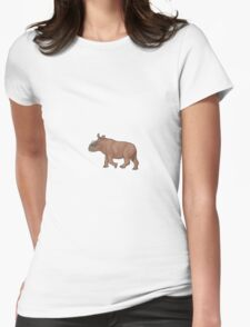 A baby Elasmotherium Womens Fitted T-Shirt