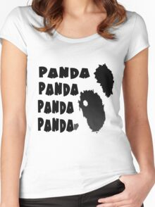 Panda Song Women's Fitted Scoop T-Shirt