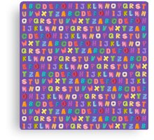 Alphabet pattern Canvas Print