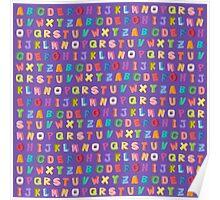 Alphabet pattern Poster