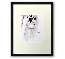 Lady GaGa Drawing Framed Print
