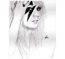 Lady GaGa Drawing Poster