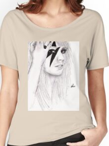 Lady GaGa Drawing Women's Relaxed Fit T-Shirt