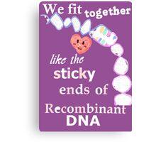DNA together Canvas Print