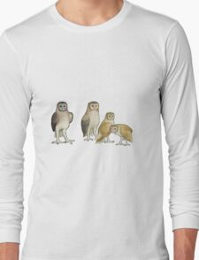 Giant barn owls from various islands Long Sleeve T-Shirt