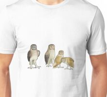 Giant barn owls from various islands Unisex T-Shirt
