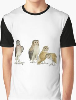 Giant barn owls from various islands Graphic T-Shirt