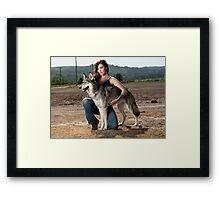 A Woman's Best Friend Framed Print
