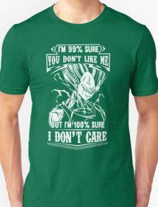 Vegeta Don't Care Dragon Ball Z T-Shirt