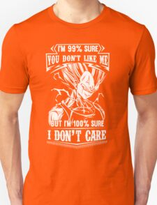 Vegeta Don't Care Dragon Ball Z T-Shirt