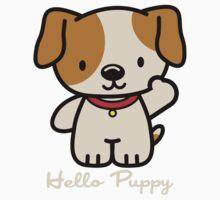 Hello Puppy One Piece - Short Sleeve