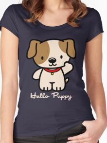 Hello Puppy Women's Fitted Scoop T-Shirt