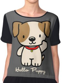 Hello Puppy Chiffon Top