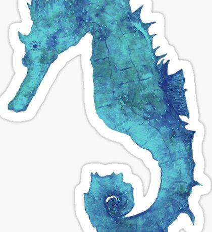 Watercolor Seahorse Sticker