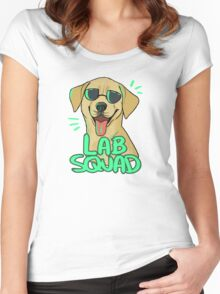 YELLOW LAB SQUAD Women's Fitted Scoop T-Shirt