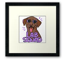 CHOCOLATE LAB SQUAD Framed Print
