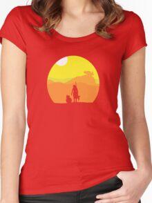 Rey on Jakku - Minimal  Women's Fitted Scoop T-Shirt