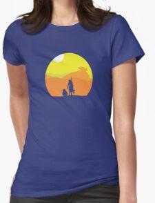 Rey on Jakku - Minimal  Womens Fitted T-Shirt
