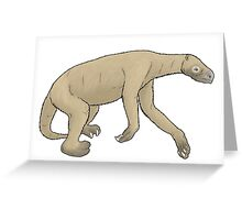 The ground sloth Nothrotheriops Greeting Card