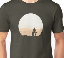 Finn on Jakku - Minimal Unisex T-Shirt