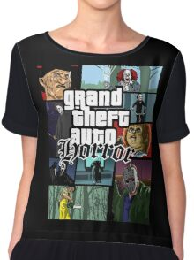 Grand Theft Horror Chiffon Top