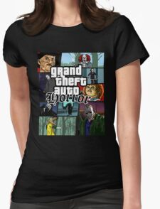Grand Theft Horror Womens Fitted T-Shirt