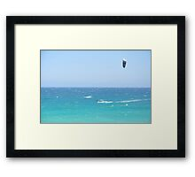 Kite surfing session in Perth, Australia Framed Print