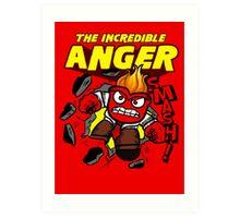 The Incredible Anger Art Print
