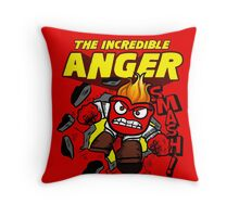 The Incredible Anger Throw Pillow