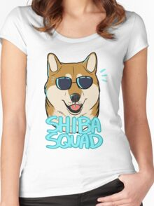 SHIBA SQUAD (red) Women's Fitted Scoop T-Shirt