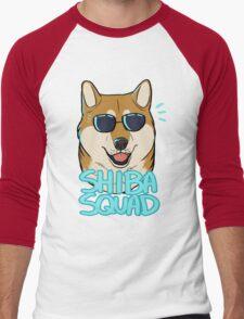 SHIBA SQUAD (red) Men's Baseball ¾ T-Shirt