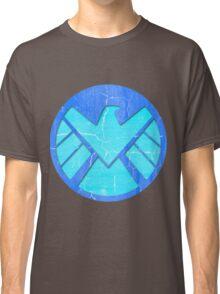 Blue Grunge S.H.I.E.L.D. Logo Classic T-Shirt