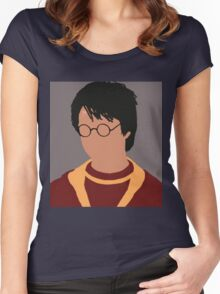 Harry Potter Minimalist  Women's Fitted Scoop T-Shirt