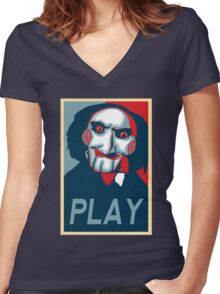 Play Women's Fitted V-Neck T-Shirt