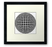 optical illusion planet cool Framed Print