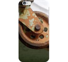 Orange Rusted Pulley iPhone Case/Skin
