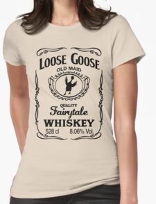 Loose Goose Whiskey Black Womens Fitted T-Shirt