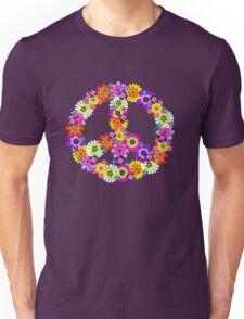 Peace Sign Floral Unisex T-Shirt