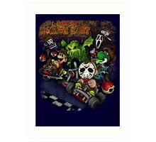 Super Horror Kart Art Print