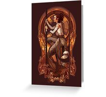 Space Nouveau Greeting Card
