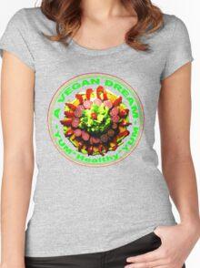 A VEGAN DREAM Women's Fitted Scoop T-Shirt