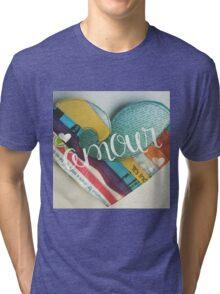 Love Amour Heart Colorado Tri-blend T-Shirt