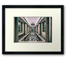 Perspective Hallway Pillar Corridor Framed Print
