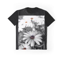 Black and white Daisy Graphic T-Shirt