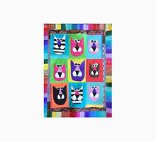 Cats Live A Colorful Nine Lives Unisex T-Shirt