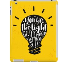 You Are The Light of The World (Yellow) iPad Case/Skin