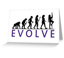 Funny Pole Dancing Evolution Greeting Card