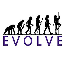 Funny Pole Dancing Evolution Photographic Print